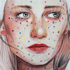 ⚪⚫▶⚫⚪▶#art  #illustration #ilustracion #watercolor #acuarela #drawing #draw anasantos_ilustración