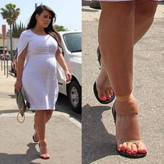 Whoever told her those shoes were a good idea lied!!
