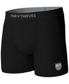 Pair of Thieves Men's Blackout Boxer Briefs - Black XL