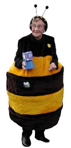 The Bee Lady, who collects money in Hull for Age UK. Cutest old lady ever.