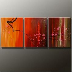 acrylic abstract paintings | Abstract Paintings 3pcs Canvas Set Modern Wall Art Acrylic Handmade ...