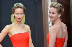 Los peinados de los Oscars 2014: Jennifer Lawrence, peinado ahuecado hacia atrás