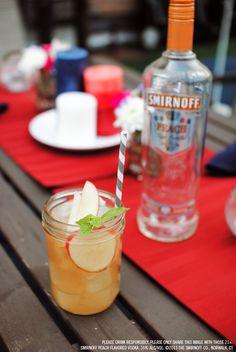 Smirnoff Peach Fuzz drink recipe with 1.5 oz Smirnoff Peach Flavored Vodka, 2 oz Lemonade, 1 oz Iced Tea