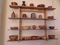 A true woodworker's shelf! Everything in the picture (besides the wall) was made by Paul A.