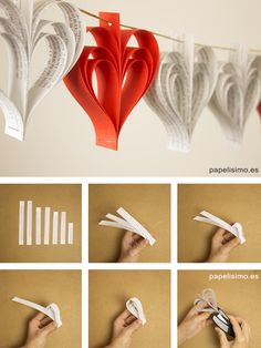 Guirnaldas de papel Paper garland diy