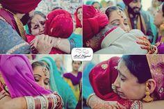 Sikh wedding emotional doli photos via IndianWeddingSite.com