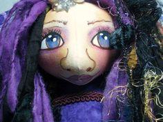 Cloth Art Doll Bust Fantasy Fairy Angel  Soft Sculpture Shelf Sitter by JDCreativeDolls on Etsy