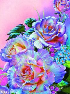 Roses Gif, Flowers Gif, Rare Roses, Morning Blessings, Colorful Roses, I Wallpaper, Fairy Land, Acrylic Art, Beautiful Roses