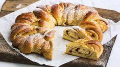 Klippekrans - Kringle - Recipe from TINE Kitchen Kringle Recipe, Doughnut, Tin, French Toast, Bread, Baking, Breakfast, Cake, Desserts