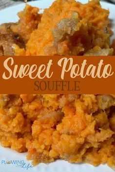 Do you need a sweet potato side dish recipe idea? This Sweet Potato Soufflé is a favorite potato casserole at our holiday meals. I asked my husband to describe this recipe and he said The butter eggs and brown sugar enhance the sweet potato experience. Hashbrown Casserole, Best Sweet Potato Casserole, Breakfast Casserole, Sweet Potato Stuffing Recipe, Bean Casserole, Sweet Potato Side Dish, Potato Sides, Potato Side Dishes, Canned Sweet Potato Recipes