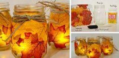 Vyrobte si svietniky z listov, ktoré zaplnia váš domov pestrou jesennou atmosférou!