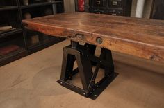 Exeptional 1900 Industrial Long factory Table | FarFetchers.com