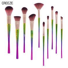 11.56$  Watch now - http://ali8a8.shopchina.info/go.php?t=32809092671 - CREEZE New Profession 10PCS Beauty Makeup Brush Kits Wool Fiber Wood Handle Foundation Blush Eye Shadow Fan Brush  #shopstyle