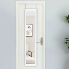 Over The Door Mirror, Mirror Door, Mirror Shapes, White Mirror, Framing Materials, Home Decor Outlet, Modern Contemporary, Wall Mount, Tall Cabinet Storage