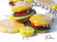 polymer clay burgers