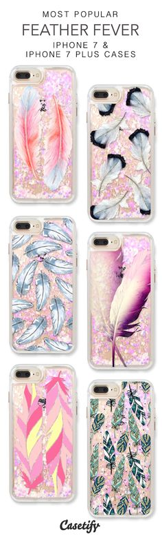 Most Popular Feather Fever iPhone 7 Cases & iPhone 7 Plus Cases. More protective liquid glitter iPhone case here > https://www.casetify.com/en_US/collections/iphone-7-glitter-cases#/?vc=sKXFmR2Hnu