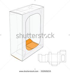Box with Display Window and Die cut Layout