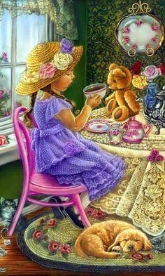 """""""Tea Party"""" • Tricia Reilly-Matthews"""