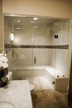 BATHROOM DESIGN: TURN YOUR BATHROOM INTO A SPA WITH MR. STEAM this would be great