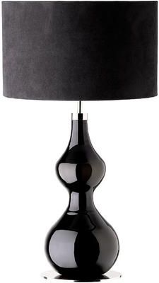 Table lamps by Costco | Costco | Pinterest | Tables, Table lamps ...:Monza - black glass table lamp with polished nickel finish base and black  suede effect drum,Lighting