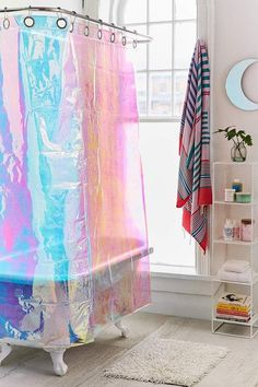 Urban Outfitters Iridescent Shower Curtain #ad
