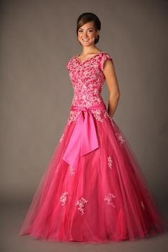 mormon prom dresses | colored pink modest prom dresses | Top of Modern Fashion Trend