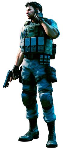 View an image titled Gold - Chris Redfield Art' in our Resident Evil 5 art gallery featuring official character designs, concept art, and promo pictures. Evil Anime, Anime Manga, Gangsters, Cyberpunk, Geeks, Resident Evil Video Game, Samurai, Good Horror Games, Leon S Kennedy