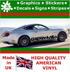 """10"""" High Car Side Stripes Graphic Decal Vinyl Stickers Van Auto Rally Race F1_78"""