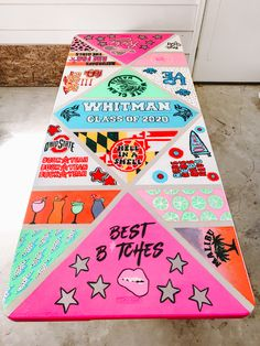 Custom Beer Pong Tables, Beer Table, Diy Table, Sorority Canvas, Sorority Paddles, Sorority Crafts, Sorority Recruitment, 21st Birthday Paddle, Birthday Cakes