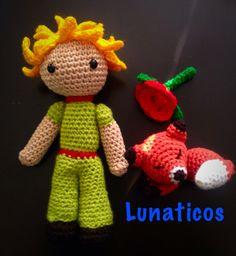 El Principito, little prince, le petit prince, crochet, amigurumi, www.facebook.com/LunaticosMR