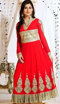 Get Latest Bollywood Latest Red Viscose #Anarkali Dresses Online.  #Price INR- 4710 Link- http://alturl.com/xokxf