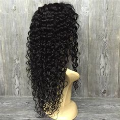 140.58$  Buy now - http://alixn4.worldwells.pw/go.php?t=32756621441 - 150% 8A Virgin Brazilian Hair Wigs Glueless Full Lace Human Hair Wigs for Black Women Deep Curly Full Lace Wigs with baby hair