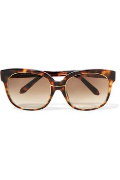 3bb1c4ceef4 Linda Farrow - Oversized square-frame tortoiseshell acetate and gold-plated  sunglasses