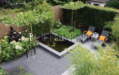 Tuinontwerp comfort tuin met Oosters tintje