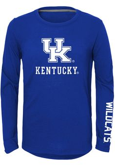Get pumped up for the Wildcats in this Kentucky Wildcats Youth Blue Trainer Long Sleeve T-Shirt. Rally House has a great selection of new and exclusive Kentucky Wildcats t-shirts, hats, gifts and apparel, in-store and online. Blue Trainers, School Spirit Shirts, School Store, The Right Stuff, Basketball Shirts, Kentucky Wildcats, Cute Casual Outfits, Long Sleeve Tees, Youth