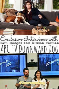 Sam Hodges and Allison Tolman Exclusive Interview Downward Dog On ABC TV. We chatted about voicing Martin, rescue dogs, and being a cat lover? - abccreativelearning.com