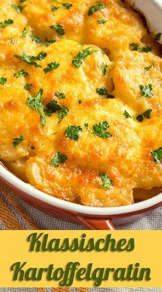 Ein Klassiker, der immer wieder gerne auf den Tisch kommt: Kartoffelgratin! #rezept #kochen #backen #auflauf #kartoffeln