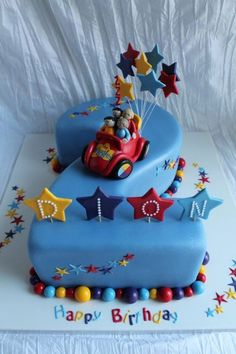 Myles would have been so excited gor The Wiggles birthday cake Wiggles Cake, Wiggles Party, Wiggles Birthday, The Wiggles, Harry Birthday, 3rd Birthday Cakes, Twin Birthday, Cars Birthday Parties, Birthday Ideas