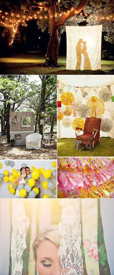 Ideas y fondos para hacer un photobooth en bodas. Lovely backgrounds for photobooth