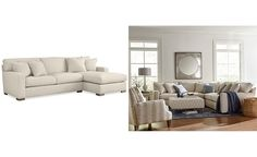 Kelly Ripa Ampton 2-Pc. Sectional with Chaise, Only at Macy's - Couches & Sofas - Furniture - Macy's