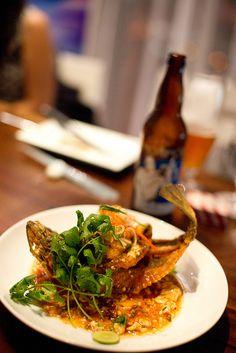 Morimoto's Whole Fried Fish   Flickr - Photo Sharing!