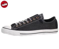Converse – Chuck Taylor All Star Denim Low Schuhe, Schwarz - schwarz -  Größe: