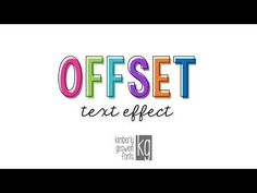 KG Fonts Tutorial: Offset Text in PowerPoint - YouTube