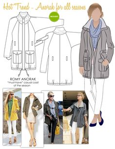Anorak for all seasons from Stylearc patterns. I think it would be great for spring & summer made in silk!