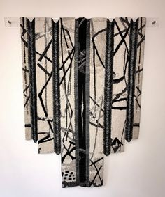 Obi I by Ellen Ramsey. Tapestry Weaving, Tapestries, Kimono Top, Ideas, Women, Fashion, Hanging Tapestry, Upholstery, Moda