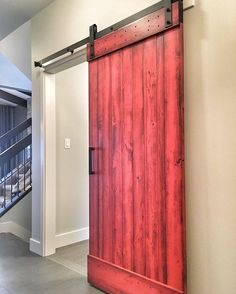 Have you entered our GIVEAWAY FOR $1500 worth of Rustica Hardware products yet? You can use it for a door hardware or a custom request for almost anything you can dream up. You can enter until mindnight tonight on the previous post.  Thanks @royerhomes for sharing your gorgeous barn door with Industrial Stag hanger. We love the red! #rusticahardware