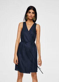 57b8c48e31 Linen wrap dress - Women