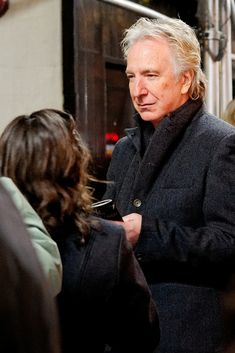 https://flic.kr/p/aEH9o7 | Seminar stage door 12 November 2011 n11 | Alan Rickman signing autographs at the stage door of the John Golden Theater, after the evening performance of Seminar on Saturday 12 November 2011.
