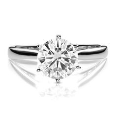 Forever Brilliant® 1 ct. tw. Moissanite Solitaire Ring in 14K Gold