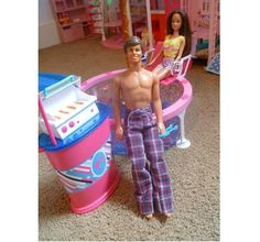 Tutorial: Sew a pair of pajama pants for a Ken doll
